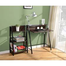 Computer Desk With Shelves by Mainstays 2 Tier Writing Desk Multiple Finishes Walmart Com