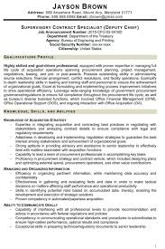 View Resumes For Free Contract Specialist Resume Example Federal Resume Examples Sample