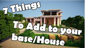 7 things to build in your minecraft base house youtube