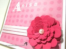 personalized 3d flower card paper craft