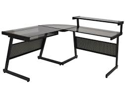 l shaped gaming computer desk amazing z line belaire glass l shaped gaming computer desk best home
