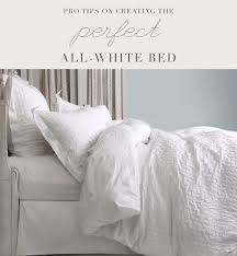 how to make a bed like a pro pro tips on creating the perfect all white bed au lit fine linens