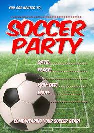 free kids party invitations soccer party invitation party