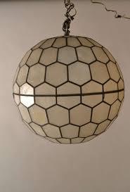 sphere capiz shell ball chandelier by feldman lighting at 1stdibs