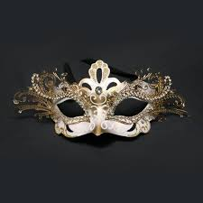 and gold decorative metal venetian mask