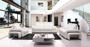 black leather living room set modern house beautiful white furniture sofa round glass table for contemporary