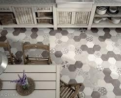 White Grey Kitchen Hexatile Cement White Grey Black Deco Garden Grey Kitchen