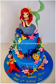 the ariel mermaid birthday cake featuring finely detailed hand