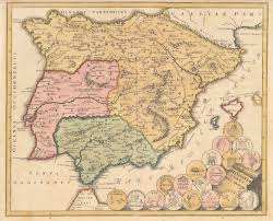 Vintage Map Antique Map Spain Portgual By Weigel 1720 Hjbmaps Com U2013 Hjbmaps