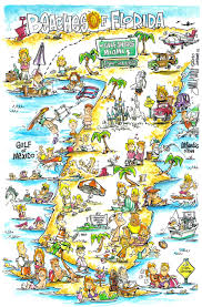Map Of San Diego by Jim Hunt U0027s Map Of The Beaches Of Florida I Want To See More