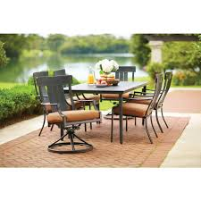 7 Pc Patio Dining Set - amazon com oak heights 7 piece patio dining set patio lawn u0026 garden
