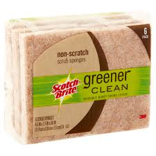 brite way window cleaning scotch brite greener clean non scratch scrub sponges 6 count