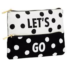 pencil pouch the emily meritt black white dot pencil pouch pbteen