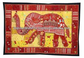 Lovely Indian Tapestries Elephant Design Wall Hanging Buy - Indian wall hanging designs