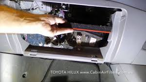 how to replace a cabin air filter on a toyota hilux early model