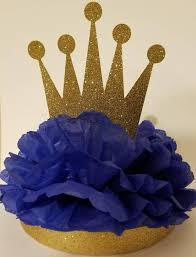 Royal Crown Centerpieces by Royal Little Prince Gold Royal Crown Centerpiece Baby Shower Or