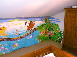 lion king mural sacredart murals lion king mural this one shows the right hand corner and furniture placement around the