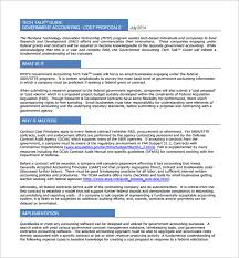 cost proposal template u2013 11 free sample example format download