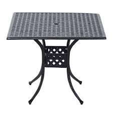 cast aluminum dining table outsunny square cast aluminum outdoor dining table black gifts