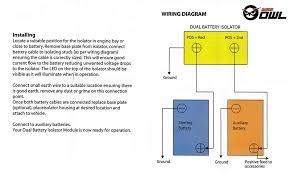 owl voltage sensitive relay 12v vsr isolator 140a dual battery