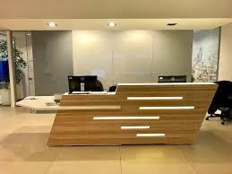 Corian Reception Desk Custom Timber Corian Reception Desk 2000ono In West End