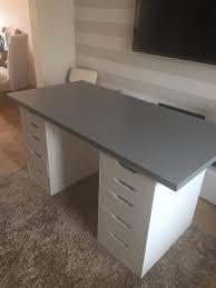 Table Top Ikea White Ikea Desk Linnmon Top And Chrome Vika Lava Legs With Green