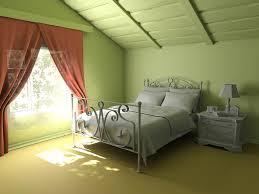 comfortable attic bedroom design ideas with minimalist interior