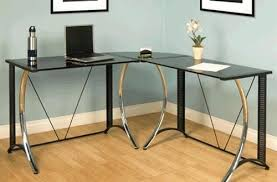 Office Max Desk Ls Attractive Glass Corner Desk With Regard To L Shaped