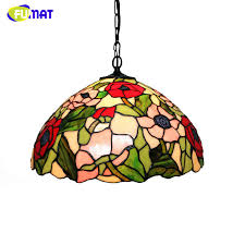 Stained Glass Pendant Light Fumat Stained Glass Pendant Light Classic Garden Flowers L