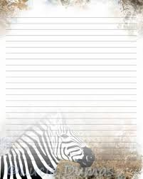 printable animal lined paper digital printable journal page stationary 8x10 jpg download lined