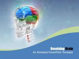 templates for powerpoint brain revolving brain a powerpoint template from presentermedia com