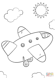 cartoon airplane coloring page free printable coloring pages