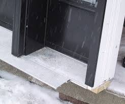 Replacing An Exterior Door Threshold Captivating Preparing Thresh As As A New Door With New