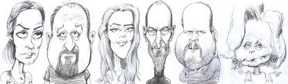 5 min caricature sketches on behance