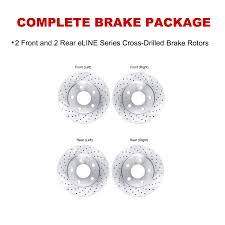 brake rotors front rear eline cross drilled mercedes benz cls500