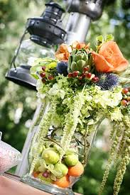 fruit and flowers reception flowers fruit and flowers wedding centerpiece