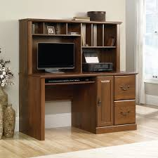 Desk With Hutch White by Sauder Harbor View Cherry Computer Desk With Hutch Hayneedle