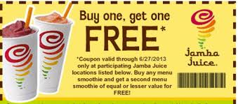 jamba juice coupon buy 1 get 1 free smoothie jamba juice coupon