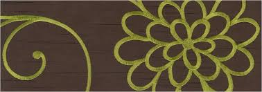 Green And Brown Curtains Brown Curtains With Lime Green Flowers Gopelling Net