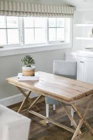 Wooden Desk With Shelves X Based Wood Desk With Gray Chair Cottage Living Room