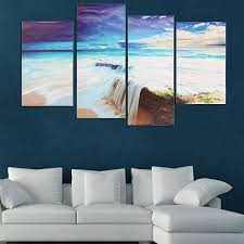 jeep painting canvas 4pcs ocean unframed landscape huge modern abstract canvas wall art