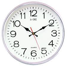 Wall Clock Simple Wall Clock With Glass Surface U2013 Plushemisphere