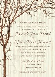 printable wedding invitation 5x7 tree and branches rustic