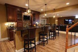 Wet Bar In Dining Room New York Basement Wet Bar Home Traditional With Dark Wood Build