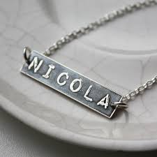 personalised necklaces personalised silver name label necklace nicolacrawford