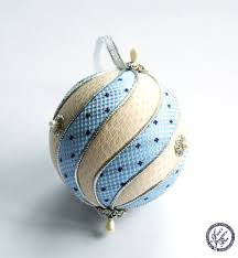 light blue and yellow kimekomi ornament by aistek on