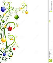 christmas ornaments clipart border pencil and in color christmas