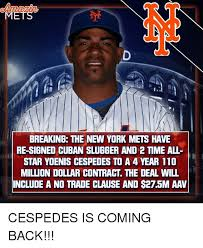 New York Mets Memes - breaking the new york mets have re signed cuban slugger and 2 time