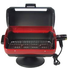 table top electric smoker meco tabletop electric bbq grill with rotisserie 9309w bbq guys