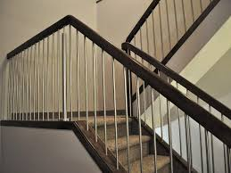 Stainless Steel Banister Wood Stainless Steel Stair Railing Installing Stainless Steel